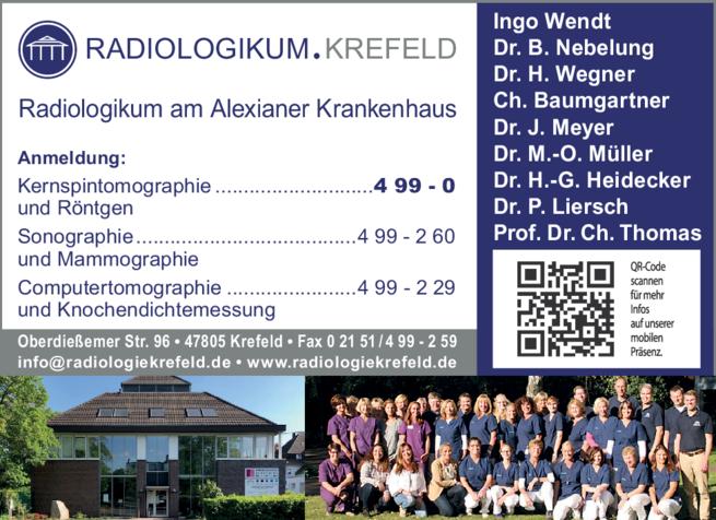 Anzeige Radiologie Gemeinschaftspraxis am Krankenhaus Maria-Hilf
