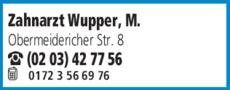 Anzeige Wupper Michael