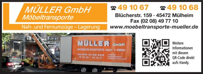 Anzeige Umzüge Müller GmbH