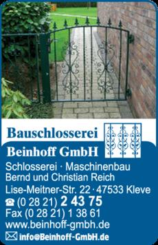 Anzeige Beinhoff GmbH