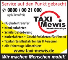 Anzeige Taxi Mewis