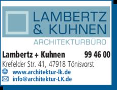 Anzeige Architekten Lambertz + Kuhnen