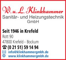 Anzeige Sanitär-Heizung Klinkhammer W. u. L. GmbH & Co. KG