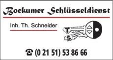 Anzeige Schlüssel Bockumer Schlüsseldienst Inh. Thomas Schneider
