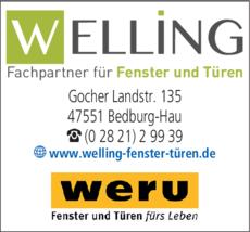 Anzeige Fenster Welling e.K. Fachpartner für Fenster und Türen