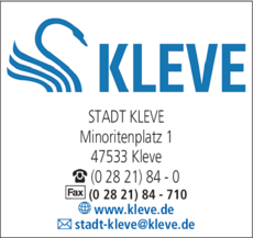 Anzeige Stadt Kleve - Stadtverwaltung - Bürgerinfo - Bürgerbüro - Rathaus