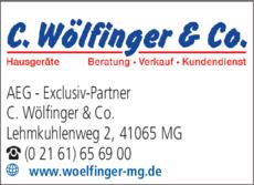 Anzeige AEG - Exclusiv-Partner C. Wölfinger & Co.