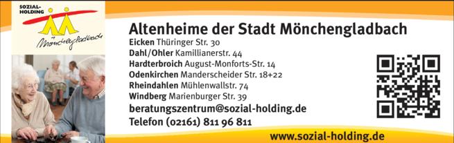 Anzeige Altenheime der Stadt Mönchengladbach GmbH