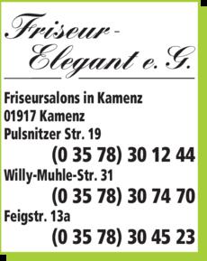 Anzeige Friseur Elegant e.G.