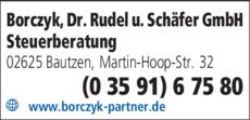 Anzeige Borczyk, Dr. Rudel u. Schäfer GmbH Steuerberatung