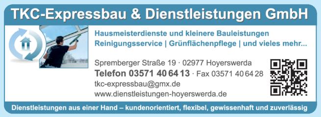 Anzeige TKC Expressbau & Dienstleistungen GmbH