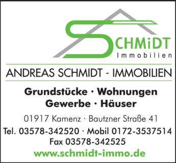 Anzeige Andreas Schmidt Immobilien