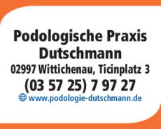 Anzeige Podologische Praxis Marit Dutschmann