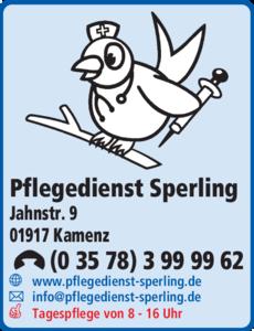 Anzeige Pflegedienst Sperling
