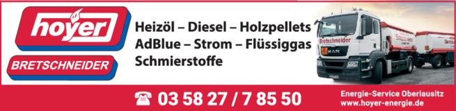 Anzeige Hoyer Heizöl Bretschneider