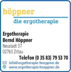Anzeige Höppner, Bernd Ergotherapeutische Praxis