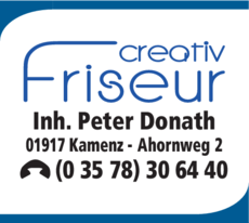 Anzeige Creativ Friseur Peter Donath