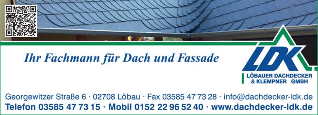 Anzeige Löbauer Dachdecker & Klempner GmbH