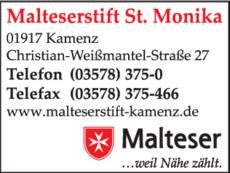 Anzeige Malteserstift St. Monika