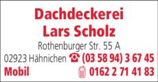 Anzeige Dachdeckerei Scholz Lars