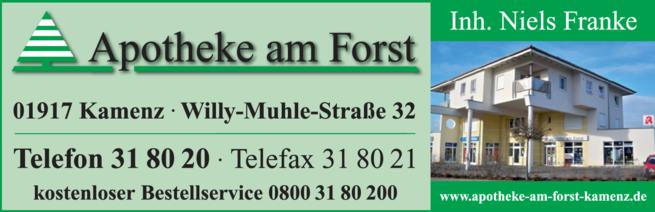 Anzeige Apotheke am Forst