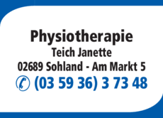 Anzeige Physiotherapie Teich Janette