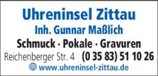 Anzeige Maßlich, Gunnar Uhreninsel Zittau