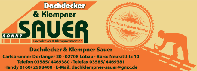 Anzeige Dachdecker & Klempner Sauer