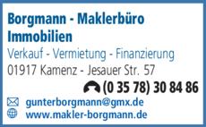 Anzeige Borgmann - Maklerbüro