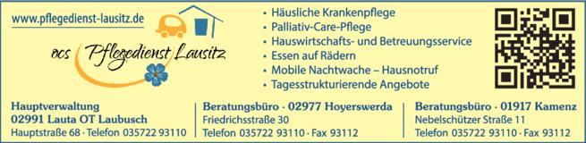 Anzeige Ambulanter Pflegedienst OCS Pflegedienst Lausitz UG