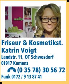 Anzeige Friseur & Kosmetikstudio Katrin Voigt