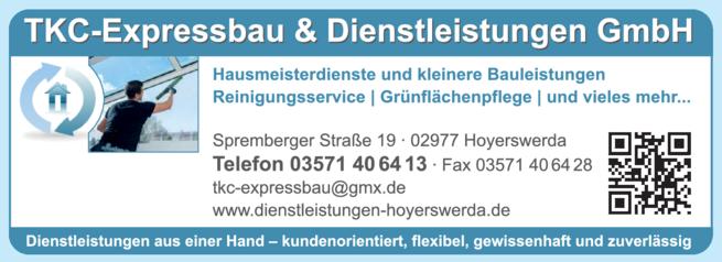 Anzeige Grünflächenpflege TKC Expressbau & Dienstleistungen GmbH