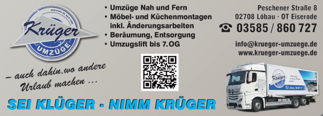 Anzeige Krüger Umzüge