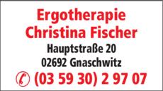 Anzeige Ergotherapie Christina Fischer