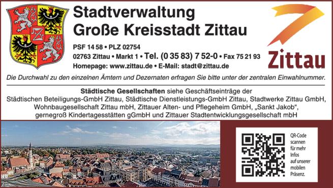 Anzeige Stadtverwaltung Zittau