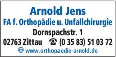Anzeige Arnold Jens
