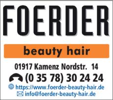 Anzeige FOERDER beauty-hair GmbH & Co. KG