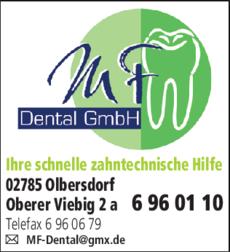 Anzeige MF Dental GmbH
