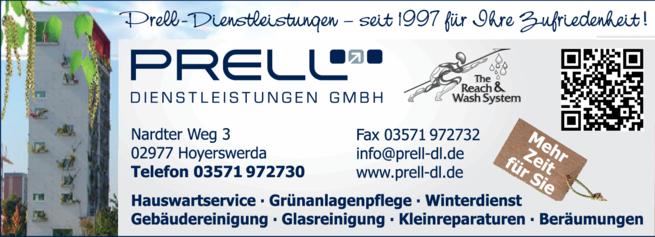 Anzeige Prell Dienstleistungen GmbH