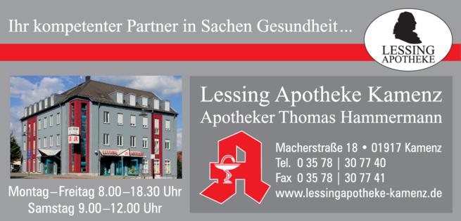 Anzeige Lessing - Apotheke