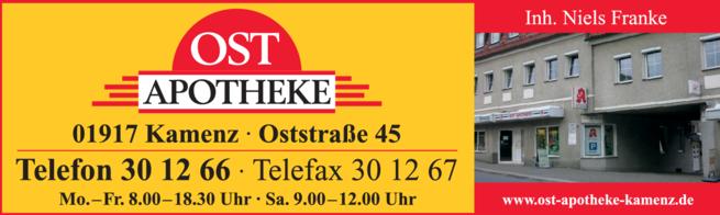 Anzeige Ost Apotheke
