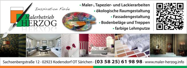 Anzeige Malerbetrieb Herzog