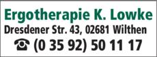 Anzeige Ergotherapie Lowke