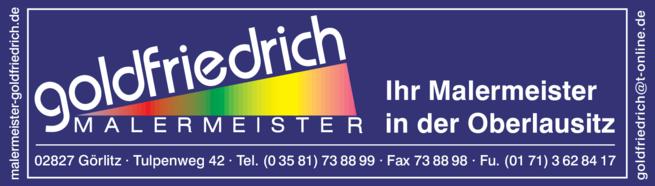 Anzeige Malermeister Goldfriedrich