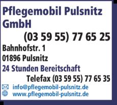 Anzeige Pflegemobil Pulsnitz GmbH