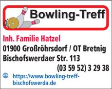 Anzeige BOWLING-TREFF