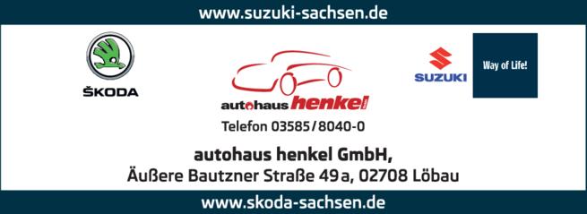 Anzeige Autohaus Henkel GmbH