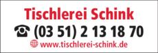 Anzeige Meistertischler Steffen Schink Tischlerei + Fachhandel