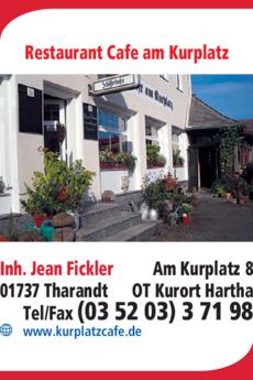 Anzeige Restaurant und Cafe am Kurplatz