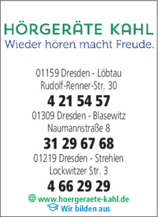 Anzeige Hörgeräte Kahl